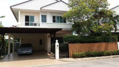 For RentHouseRama5, Ratchapruek, Bangkruai : 2 storey detached house for rent, Mantana, Opposite Den La 5 Kindergarten