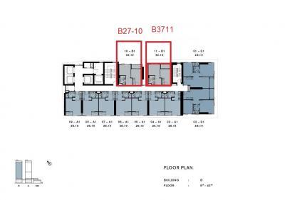 ขายคอนโดวงเวียนใหญ่ เจริญนคร : ขายchapter เจริญนคร ตึก B ชั้น 16-37ตำแหน่ง 10,11 ขนาด 32.10 ตร.ม.