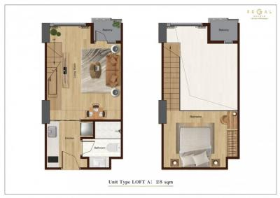 Sale DownCondoBangna, Lasalle, Bearing : ดาวน์ Sell Down Payment Loft 1 Bed 39 sq.m 🔥Regal Bangna South