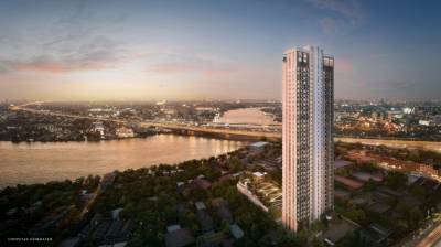 Sale DownCondoBang Sue, Wong Sawang : For SALES at Cost!! - Down Payment - Highest Floor - Chao Phraya River View - Chapter One Flow Bangpo