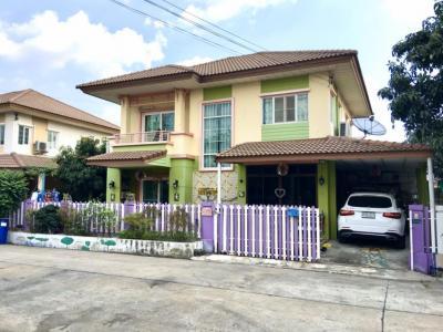 For SaleHouseRangsit, Patumtani : House for sale, Rangsit Khlong 2 Pruksa Village 12, Rangsit-Nakhon Nayok 31, near Future Park, 4 bed 200 sq. M.