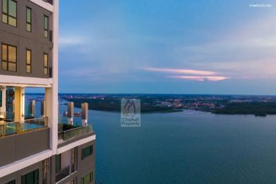 For RentCondoSamrong, Samut Prakan : For Rent Knightsbridge Sky River Ocean The Only River View