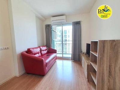 For RentCondoLadkrabang, Suwannaphum Airport : K2922 Cheap Rental !! Condo Lumpini Ville Onnut-Ladkrabang, size 28 sqm., 1 bedroom, 1 bathroom, floor 6 * Ready to move in
