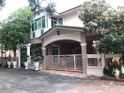For SaleHouseRamkhamhaeng,Min Buri, Romklao : House for sale Panthiya Village With swimming pool Fully furnished, ready to move in.