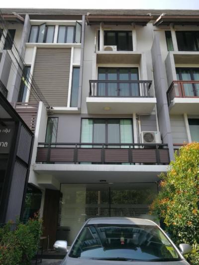 For RentHome OfficeOnnut, Udomsuk : For rent, 4-floor home office, Ariya Mandarina, Sukhumvit 77, Onnut 45,000 baht