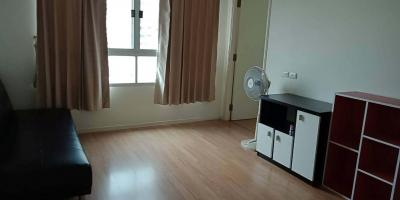 For RentCondoRamkhamhaeng Nida, Seri Thai : Cheap rent, Lumpini Ville Ramkhamhaeng 60/2, 2 bedroom, 2 bathroom, 46 sqm., 12th floor, fully furnished, best location