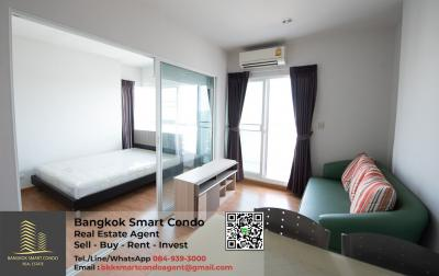 For SaleCondoBang Sue, Wong Sawang : Condo Parkland Ratchada - Wongsawang 1 bedroom, corner room, 29th floor, Thepthid view, beautiful room, fully furnished, selling only 2.3 million