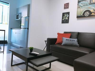 For RentCondoRatchadapisek, Huaikwang, Suttisan : M2091-For rent Condo G style near MRT Huai Khwang 33Sqm. floor1 1bedroom1bathroom+washing machine@11000