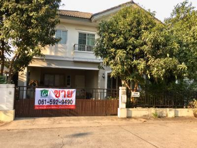 For SaleHouseNawamin, Ramindra : 2 storey detached house for sale, Passorn Village 19, corner area of 66.2 sq.w.