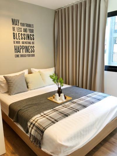 For RentCondoOnnut, Udomsuk : A0020 B Republic Sukhumvit 101/1 for rent, size 25 sqm., 1 bedroom, 5th floor, pool view * BTS Punnawithi