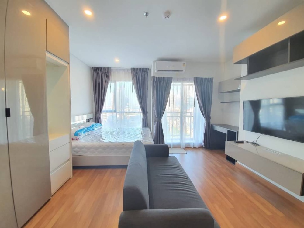 For RentCondoRama3 (Riverside),Satupadit : Condo for rent, Lumpini Place Riverine-Rama 3, 10th floor, size 25 sq m, corner room, fully furnished, new project