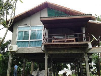 ขายบ้านลพบุรี : ขายบ้าน ริมแม่น้ำบางขาม ลพบุรี ติดถนนสาย3028 บ้านไม้สวย1ไร่