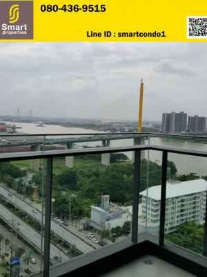 For SaleCondoRama3 (Riverside),Satupadit : ** For Sale ** Star View Condo, position A5, corner room, 2 bedrooms, 2 bathrooms, 77 sqm. Corner room, empty room, river view, only 8.5 million baht