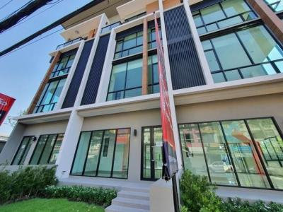 For RentHome OfficeKaset Nawamin,Ladplakao : 4-story home office for rent, Premium Place Project, Mayalap, Prasern Manukit Road Soi Ram Inthra 14