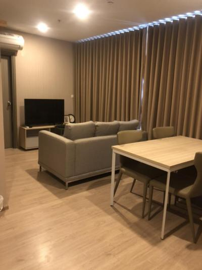 For RentCondoBangna, Lasalle, Bearing : For rent Ideo O2 2 bed 2 bath 53 sqm. High floor, per month 22,000