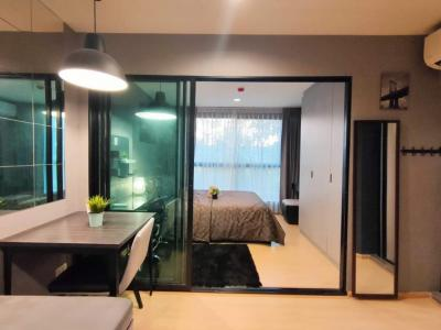 For RentCondoRama9, RCA, Petchaburi : Condo for rent: Rise rama 9, fully furnished, electrical appliances, 2nd floor