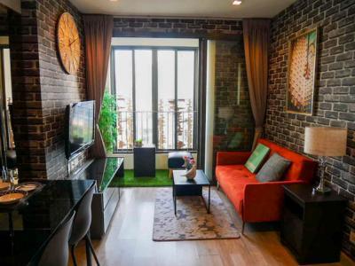 For SaleCondoRama9, RCA, Petchaburi : Fire Sale! IDEO Mobi Rama 9, 54 sqm., 2 bed, 2 bath, Conner unit Fully Furnished Near MRT