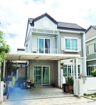 For SaleTownhouseBangbuathong, Sainoi : 2-storey detached house for sale, Areeya Village, The Village Kanchana-Ratchapruek Bang Kruai-Thai Noi Road
