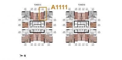 ขายดาวน์คอนโดพระราม 9 เพชรบุรีตัดใหม่ : (เจ้าของ) ขายดาวน์ถูก ONE9FIVE Asoke-Rama 9: 1 ห้องนอน ชั้น 11 วิวตึก G สวยๆ