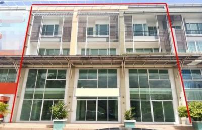 For RentShophouseRamkhamhaeng,Min Buri, Romklao : ให้เช่าอาคารพาณิชย์ 4 ชั้น 3คูหาซอยมีสทีน ติดถนนรามคำแหง 160