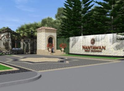 For RentHouseBangna, Lasalle, Bearing : Luxury house for rent Nantawan Bangna Km. 7 village (Nantawan Bangna Km. 7) single house. Fully furnished