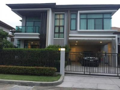 For RentHouseLadkrabang, Suwannaphum Airport : Luxury house for rent, The Grand Bangna-Wongwaen, The Grand Bangna-Wongwaen, area 90 sq.w. Kanchanaphisek Road, Prawet, between Onnut-Ladkrabang Road With Bang Na-Trat Road