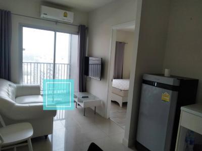 For RentCondoRattanathibet, Sanambinna : For rent Manor Sanam Bin Nam (1Bed room) Chaophraya river view, 12th floor, only 8,000 baht / month