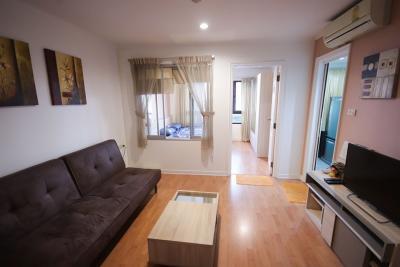 For RentCondoOnnut, Udomsuk : M2201-for rent condo Lumpini Ville Sukhumvit 77, 35 sqm. Floor 35, Building 1, 1 bedroom, 1 bathroom, + washing machine@11,000