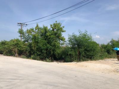 For RentLandLadkrabang, Suwannaphum Airport : Land for rent in Bang Phli, land size 4 rai over the entrance to Suvarnabhumi Airport. 80 meters wide