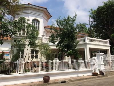For SaleHousePinklao, Charansanitwong : House for sale in Krisada Nakorn Pinklao Phutthamonthon Sai 2 Village, lake and park project