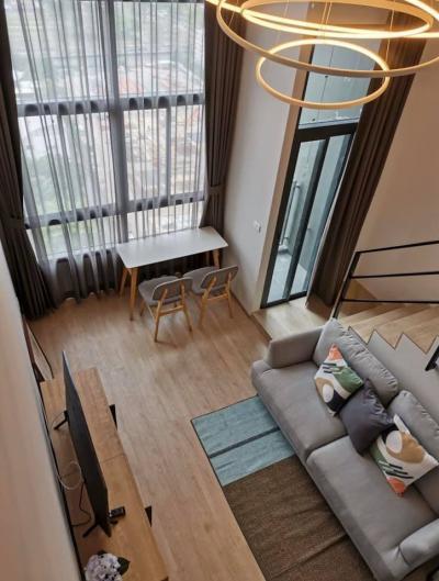 เช่าคอนโดพระราม 9 เพชรบุรีตัดใหม่ : ให้เช่า ห้อง Hybrid (2ช้ัน) เฟอร์ครบ Ideo New Rama 9 ขนาด 36ตรม.ชั้น24 วิวดี ทำเลเยิี่ยม