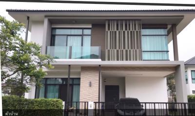 For RentHouseDaokanong,Bang Bon : House for rent, beautiful decorated, fully furnished, Kanchanapisek Bangbon Rd.