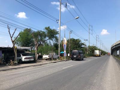 For RentLandLadkrabang, Suwannaphum Airport : Land for rent in Bang Phli, land area 2 rai over the entrance to Suvarnabhumi Airport