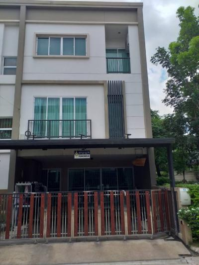 For SaleTownhouseOnnut, Udomsuk : H113-Sale and rent 3-story townhome, Village, Lumpini Township, Sukhumvit 62, 30 sq. Wah, 3 floors, 5bedrooms, 3bathrooms @14,000,000 Rent @55,000