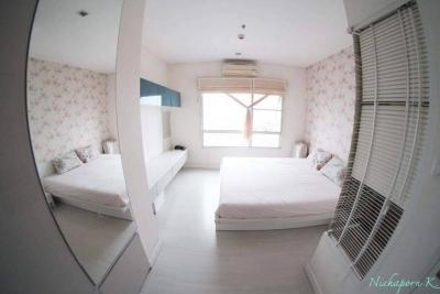 For RentCondoRatchadapisek, Huaikwang, Suttisan : Condo for rent, The Room Ratchada-Ladprao (from Land and House Project) near MRT Lat Phrao, just 5 minutes walk to