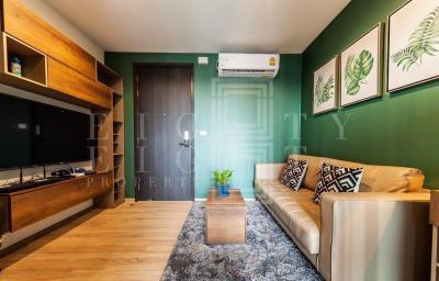 For RentCondoRama9, RCA, Petchaburi : For Rent THE BASE Garden-Rama 9 (32 sqm.)