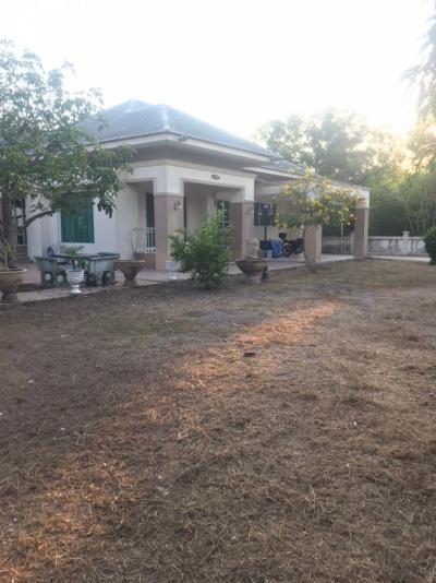 For SaleHouseNakhon Nayok : ขายด่วน! ขายถูกมาก บ้านเดี่ยว ชั้นเดียวหลังใหญ่ พร้อมที่ดิน 219 ตร.ว. คลอง15 รังสิต-นครนายก .ใกล้ มศว.