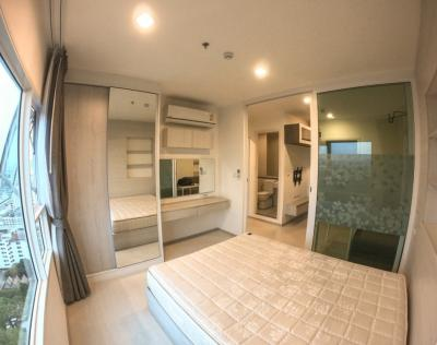 For RentCondoSamrong, Samut Prakan : For Rent Aspire Erawan Size 31 sqm. 1 Bed room type Tower B Floor 24, 0 km to BTS Chang Erawan (E17) and 1 km to expressway. Tel. +6684-410-0080.