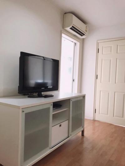 For RentCondoRamkhamhaeng, Hua Mak : For rent, Lumpini Ville Ramkhamhaeng 44, 35 sqm, 19th floor, Building B 8,500 baht 064-9598900