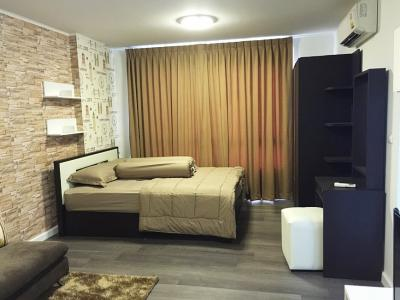For RentCondoBangna, Lasalle, Bearing : Rent/Sale dCondo Campus Resort Bangna Near Assumption University, 30 sq.m 1Bed 8th floor Clear View, Fully furnished