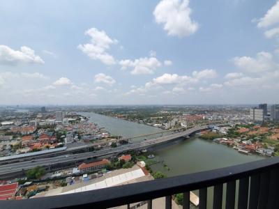 เช่าคอนโดรัตนาธิเบศร์ สนามบินน้ำ : politan rive ชั้น 45 ขนาด 31 ตร.ม. วิวแม่น้ำ ตำแหน่งใกล้แม่น้ำที่สุด ครบ พร้อมอยู่