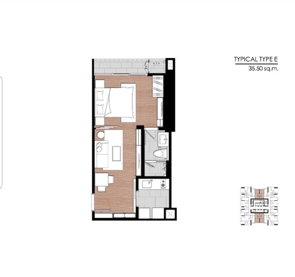 ขายดาวน์คอนโดพระราม 9 เพชรบุรีตัดใหม่ : (เจ้าของขายเอง ยินดีรับ Agent) Urgent sell, 1 Bedroom facing East on very high floorขายด่วน 1 ห้องนอน ทิศตะวันออก ชั้นสูงมาก