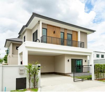 For RentHouseRama5, Ratchapruek, Bangkruai : 🔥 For rent เดี่ยว เดี่ยว Detached house in Centro (Centro) Ratchapruek 2 จริง Real house, roof top + parking + kitchen + fully furnished. ⚡