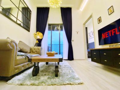 For RentCondoOnnut, Udomsuk : (✨New For Rent) The Line Sukhumvit 101: High floor (32nd) River view‼️ -Fully furnished- Nordic style