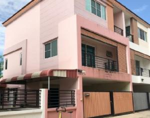 For RentTownhouseRatchadapisek, Huaikwang, Suttisan : Office for rent, 4-story townhome, Busarakam Place Project Soi Vibhavadi Rangsit 20, near MRT Lat Phrao. Newly renovated, renovated, 4 air conditioners, suitable as a company office.