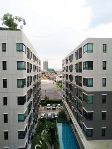 For RentCondoLadprao 48, Chokchai 4, Ladprao 71 : Condo for rent, Win Chokchai 4, Building A, 7th floor, studio, pool view, most open view