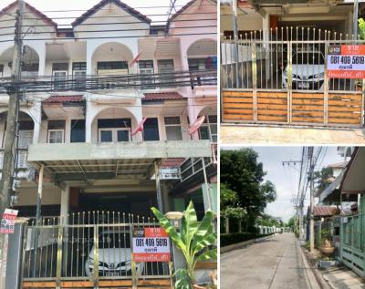 For SaleTownhouseLadprao 48, Chokchai 4, Ladprao 71 : Sell 3-storey townhouse in Soi Lat Phrao-Wang Hin 14 (Soi Kong Prap)