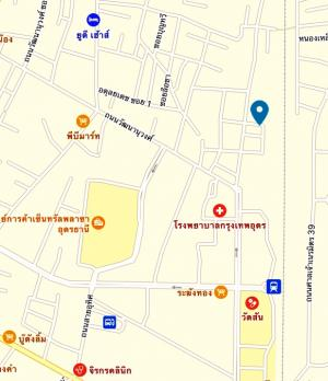 For SaleLandUdon Thani : Land for sale in Udon Thani Next to Thong Yai Road, 2 rai 40x80 meters, near Central Bangkok Hospital