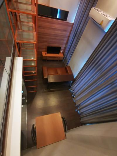 For RentCondoSukhumvit, Asoke, Thonglor : 😍 HOT !! For rent, C Ekkamai, loft room, 4.2 ceiling high, rent only 25,000 baht.