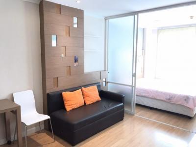 For RentCondoRamkhamhaeng, Hua Mak : For rent, Lumpini Ville Ramkhamhaeng 26 32 sqm. Floor 8, Building B 7500 baht